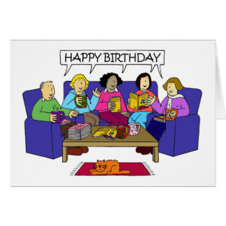 Happy birthday from group greeting cards zazzle happy birthday from the book group card bookmarktalkfo Gallery