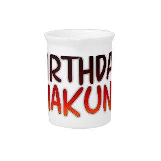 Happy Birthday Hakuna Matata Inspirational graphic Pitcher