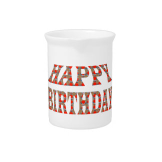 HAPPY BIRTHDAY HappyBIRTHDAY Colorful LOWPRICES Pitcher