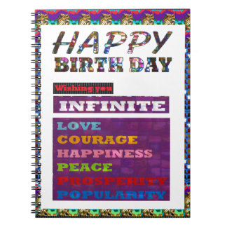 Happy Birthday HappyBirthday Greetings Gifts Note Books