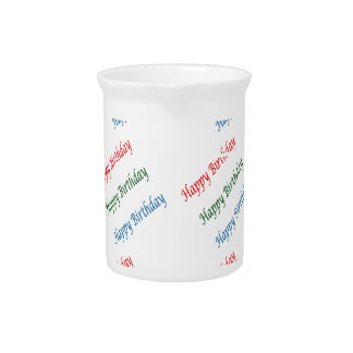 HAPPY BIRTHDAY HappyBirthday Script Colorful Light Pitcher