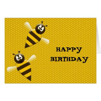 Happy Birthday Honeybee in Honeycomb Card