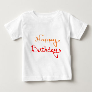 Happy Birthday in Red And Orange Baby T-Shirt