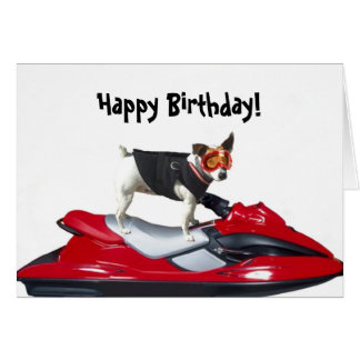 Happy Birthday Jack Russsell Terrier Greeting Card
