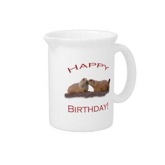Happy Birthday Kiss Pitcher