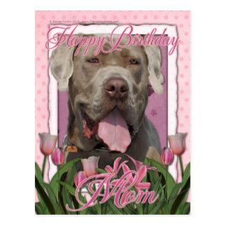 Happy Birthday Mom - Mastiff Neopolitan - Snoop Postcard