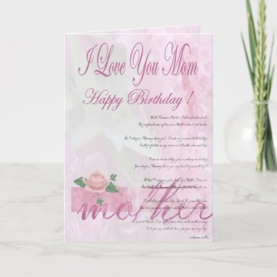 Happy Birthday Mother from Daughter Greeting Card by Gr