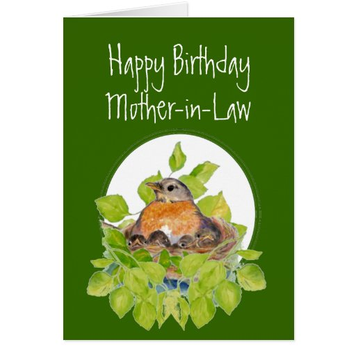 Happy Birthday Mother-in-Law Robin On Nest