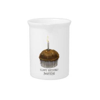 Happy Birthday Muffin Pitcher