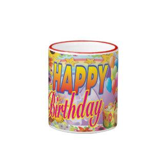 Happy Birthday Mug Colorful Cute