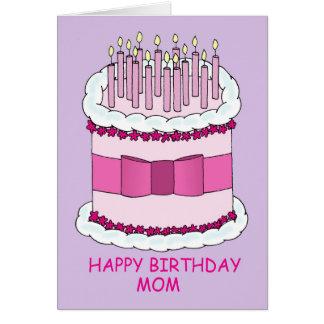 Happy Birthday Mum, Large Cake. Card