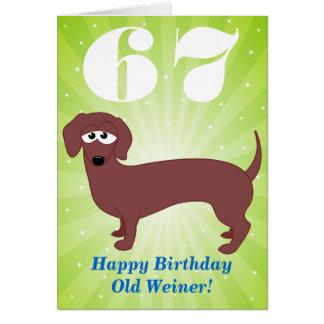 Happy Birthday Old Weiner Card