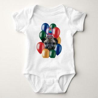 Happy birthday Pug dog Baby Bodysuit