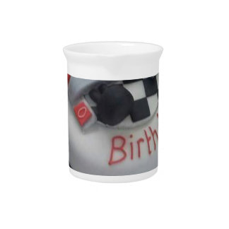 happy birthday racing car pitcher