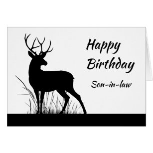 Happy Birthday Son In Law Vintage Stag Deer