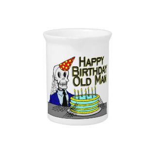 Happy Birthday Spider Web Old Man Pitcher