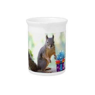 Happy Birthday Squirrel Pitcher