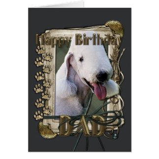 Happy Birthday - Stone Paws Bedlington Terrier Dad Card