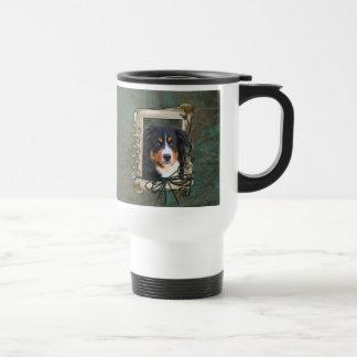 Happy Birthday - Stone Paws - Bernese Mountain Dog Travel Mug