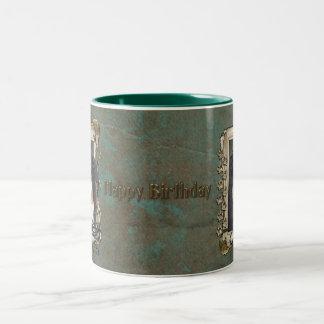Happy Birthday - Stone Paws - Bernese Mountain Dog Two-Tone Coffee Mug