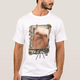 Happy Birthday - Stone Paws - Brussels Griffon T-Shirt