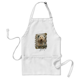 Happy Birthday - Stone Paws - GoldenDoodle - Dad Standard Apron