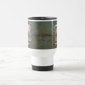 Happy Birthday - Stone Paws - GoldenDoodle Travel Mug