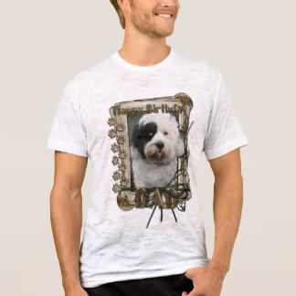 Happy Birthday - Stone Paws - Tibetan Terrier -Dad T-Shirt