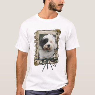 Happy Birthday - Stone Paws - Tibetan Terrier T-Shirt