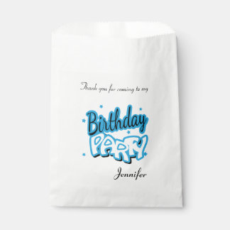 Happy Birthday Thank You | Baby Blue Favour Bags