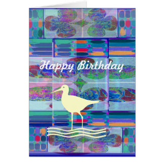 HAPPY BIRTHDAY  -  WHITE BIRD  design Card
