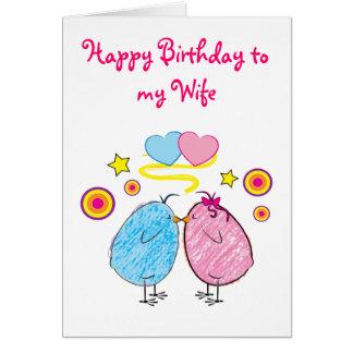 Happy Birthday Wife Greeting Cards