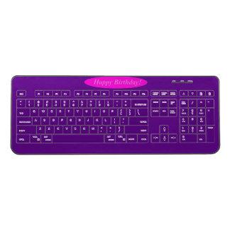 Happy Birthday Wireless Keyboard