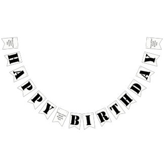 Happy Birthday/your picture Party Bunting Banner