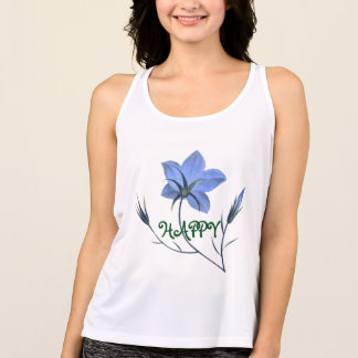 Happy Bluebell Wildflowers Singlet