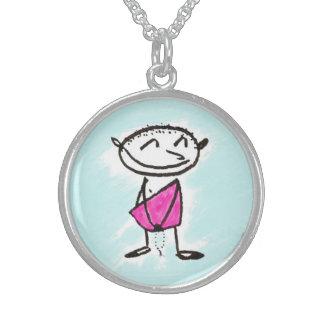 happy bodhisattva pendant
