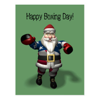Happy Boxing Day Postcard