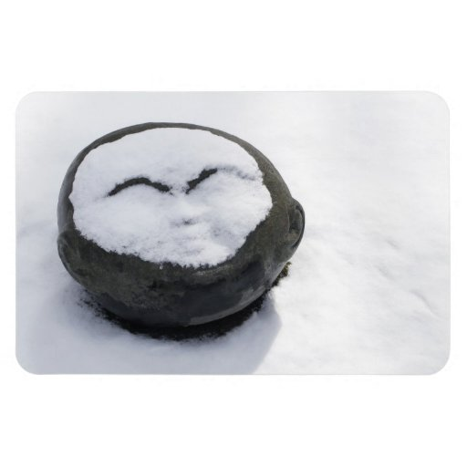 Happy Buddha With Snow Facial Flexible Magnet