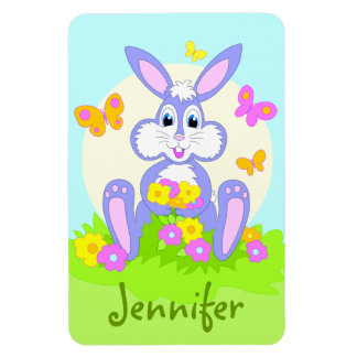 Happy Bunny Personalised Magnets