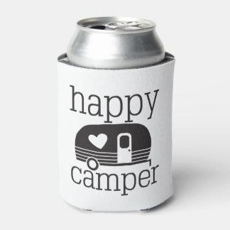 Happy Camper Beer Pop Soda Cozy Can Cooler