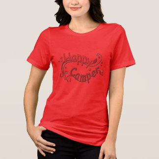 Happy Camper Camping Red Ladies T-shirt