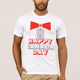 Happy Canada Day Bowtie Tuxedo T-Shirt