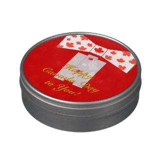 Happy Canada Day Canadian BowTie Tuxedo Jelly Belly Tin