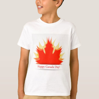 Happy Canada Day card with maple leaves T-Shirt