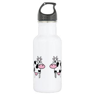 Happy Cartoon Cows 532 Ml Water Bottle