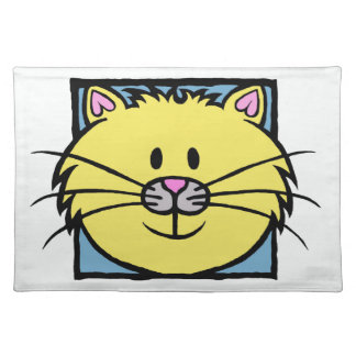 HAPPY CAT ( yellow ) Placemat