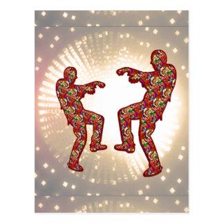 HAPPY CELEBRATIONS Print: ZOMBIE MOON Dance Post Card