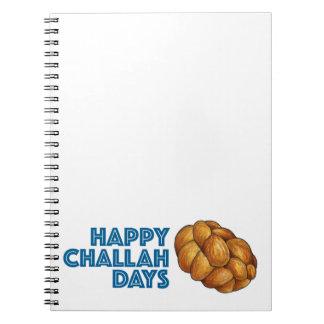 Happy Challah Days Chanukah Hanukkah Gift Notebook