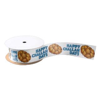 Happy Challah Days Hanukkah Chanukah Bread Ribbon Satin Ribbon