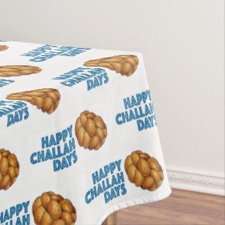 Happy Challah Days Hanukkah Chanukah Jewish Bread Tablecloth